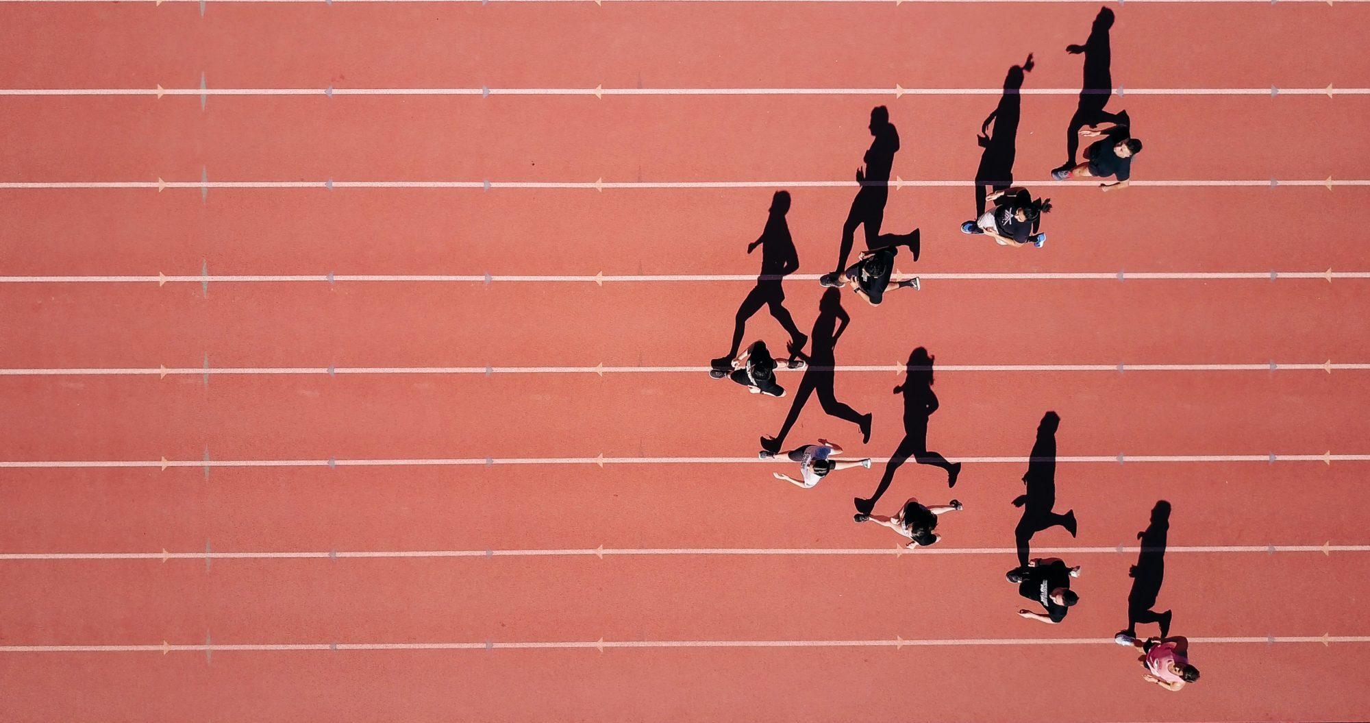 走る人たち