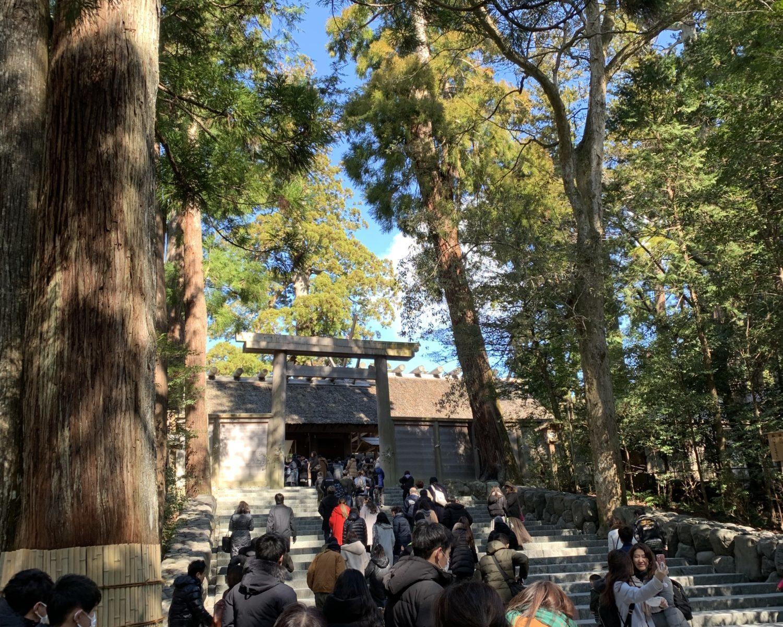 皇大神宮前階段